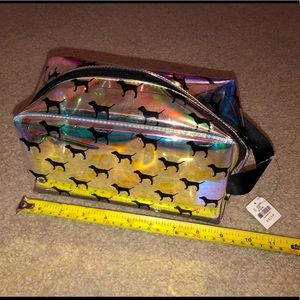 Holo PINK Victoria's Secret Accessory Bag